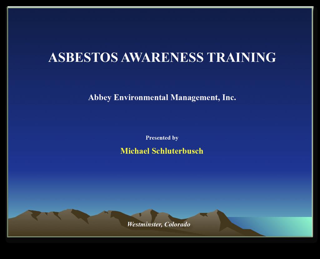 ACM Training Screen Shot